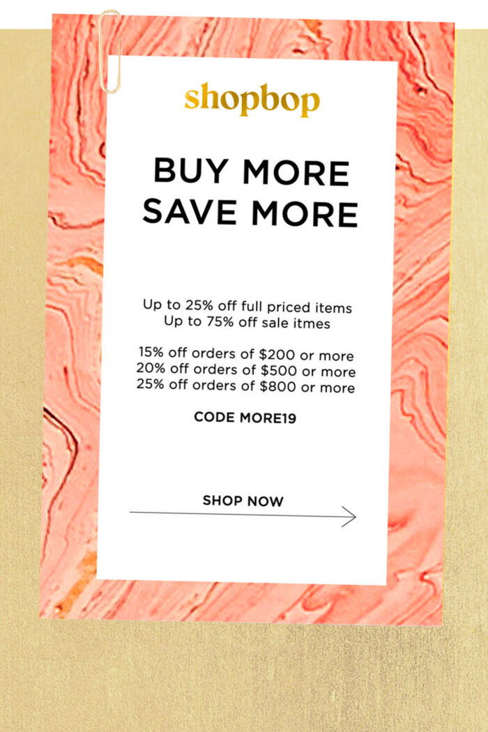 Shopbop: The Sale of the Season